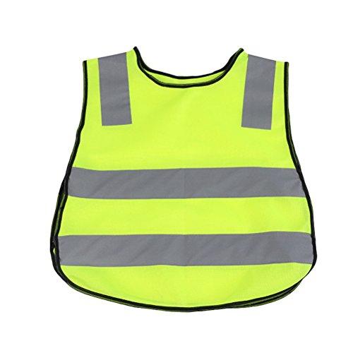 Tinksky Kinder Sicherheitsweste Helle Farbe Reflektierende Sicherheitsweste für Kinder Outdoor (Grün)