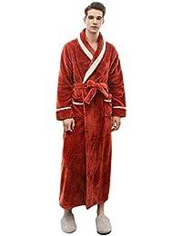 Lvguang Unisex Calientes Albornoz Invierno Batas Kimono Baño para Hombre y Mujer Suave Comodo Pijamas