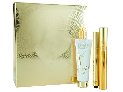 Yves Saint Laurent Touche Eclat 2.5 ml Luminous Radiance Radiant Touch Concealer / Top Secrets Flash Radiance 30 ml Skincare Brush / Volume Effect Mascara Set
