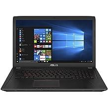 'ASUS fx753vd-gc193t Notebook, 17.3, Intel Core i7–7700hq, Disco duro de 256GB y HDD de 1TB, 16GB RAM, NVIDIA GeForce GTX 1050, Negro