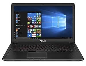 """Asus FX753VD-GC193T Notebook, 17.3"""", Intel Core i7-7700HQ, SDD da 256 GB e HDD da 1 TB, 16 GB RAM, nVidia GeForce GTX 1050, Nero"""
