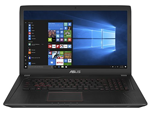Asus FX753VD-GC193T Notebook, 17.3', Intel Core i7-7700HQ, SDD da 256 GB e HDD da 1 TB, 16 GB RAM, nVidia GeForce GTX 1050, Nero