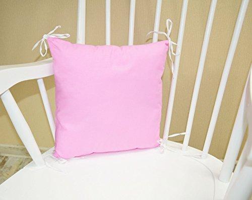 Kissen als Nestchen, Nestchen mit Kopfschutz für Babybett 35cm x 35cm Design:Hellrosa