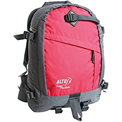 Altus 1350201714 - Mochila esquí montaña unisex, color negro/rojo, talla única