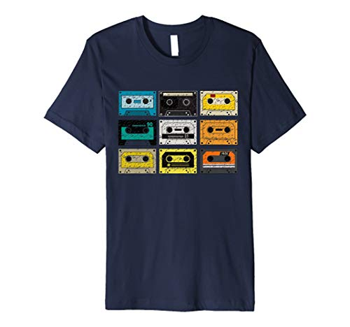 Vintage Retro Music Cassette Tapes Mixtape T-shirt for men