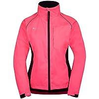 Mountain Warehouse Adrenaline Jacke für Damen - Atmungsaktive Damenjacke, versiegelte Nähte, wasserfester Regenmantel mit hochsichtbarem Print - Für Radfahren, Laufen