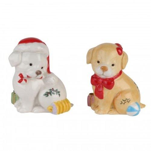 Spode Christmas Tree Puppy Salt & Pepper Set Spode China Christmas Tree