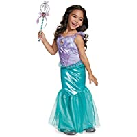 Disguise Ariel Deluxe Disney Princess The Little Mermaid Costume, X-Small/3T-4T