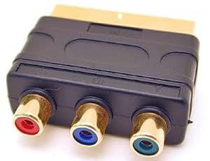 SCART PLUG TO 3 PHONO COMPONENT/RGsB ADAPTOR