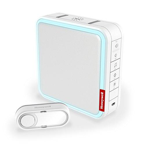unk-Gong-Set, bis zu 20 MP3-Melodien aufspielbar, mit Reichweitenverstärker und Klingeltaster, weiß, DC917S ()