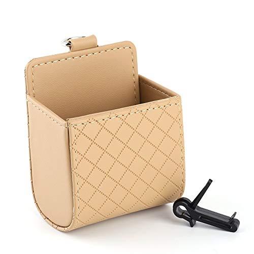 HYCy Auto Universal Aufbewahrungstasche Tasche Telefon Mod Sun Glass Box Halter Pocket Organizer Beige fuuml;r Auto Muuml;ll Handyhalter Karte Brille Handyhalter Clip Mod-telefon