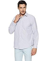 John Players Men's Striped Slim Fit Formal Shirt