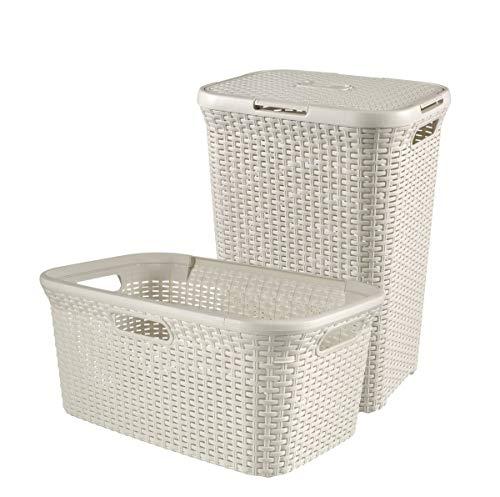Wäschebox Wäschekorb 45L