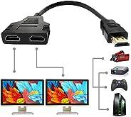 كابل HDMI مقسم 1 في 2 محول HDMI ذكر إلى HDMI مزدوج أنثى من 1 إلى 2 طريقة ، يدعم اثنين من أجهزة التلفزيون في نف