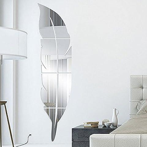 Garwarm 3D Moderne Créative Amovible Décoratif Acrylique Miroir Sans Frame