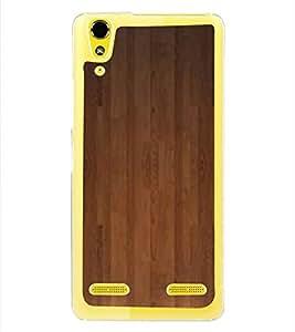 PrintVisa Wooden Door Pattern High Glossy Metal Designer Back Case Cover for Lenovo A6000 Plus :: Lenovo A6000+ :: Lenovo A6000