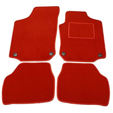 ALFA ROMEO MITO 2008 ON FULLY TAILORED SPECIFIC CAR FLOOR MAT SET RED 1004