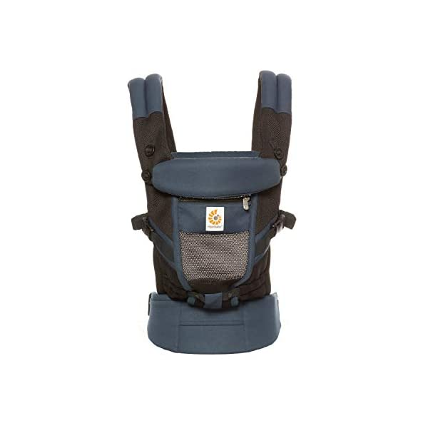 Ergobaby Baby Carrier for Newborn to Toddler, Raven Ergobaby Baby carrier for new-borns - the ergonomic bucket seat gradually adjusts to your growing baby, to ensure baby is seated in a natural frog-leg position (m-shape position) New - now with lumbar support. long-wearing comfort for parents with even weight distribution between hips and shoulders. Adapt 3 carry positions: front-inward, hip and back. the carrier has a padded, foldable head and neck support and a tuck-away baby hood for sun protection (upf 50+) and privacy. 3