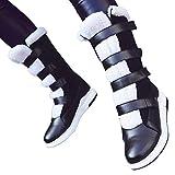 TianWlio Stiefel Frauen Herbst Winter Schuhe Stiefeletten Boots Lässige Runde Zehe Schuhe Flach mit Schnee Stiefel Kurze Plüsch Stiefel mit Mittlerem Schlauch Schwarz 42