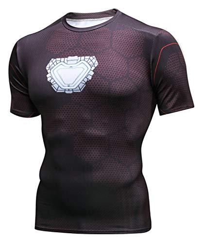 PIZOFF Unisex 3D Druck Kurzarm T-Shirt Muskelshirt