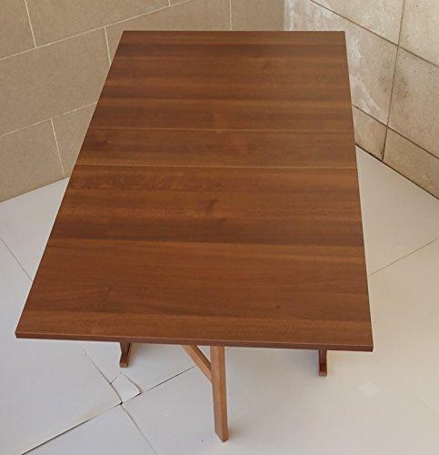 Frams tavolo susanna a consolle richiudibile noce