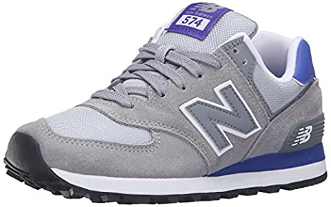 New Balance Women WL574CPK-574 Training Running Shoes, Multicolor (Grey/Purple 059), 4 UK 36 1/2 (Balance Runner)