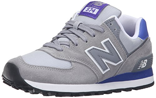 New Balance WL574CPK-574, Zapatillas de Running para Mujer, Multicolor (Grey/Purple 059), 37.5 EU