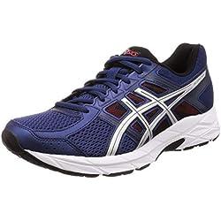 Asics Running Gel Contend 4, Zapatillas de Deporte para Hombre, Azul (Deep Ocean/Silver 400), 44 EU