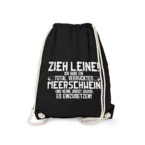 Fashionalarm Turnbeutel - Zieh Leine - verrücktes Meerschwein | Fun Rucksack Spruch Meerschweinchen...