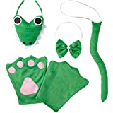 dressforfun 302031 - Kostüm Set Krokodil für Kinder, Haarreif mit Gesicht, Handschuhe, Fliege und Schwanz