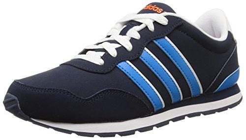 Adidas V Jog K, Scarpe per bambini, Ragazzo Collegiate Navy/Solar Blue2 S14/Ftwr White