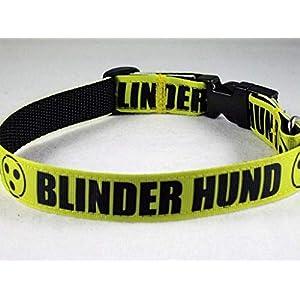 "Halsband""Blinder Hund"" bis 40 cm Halsumfang"