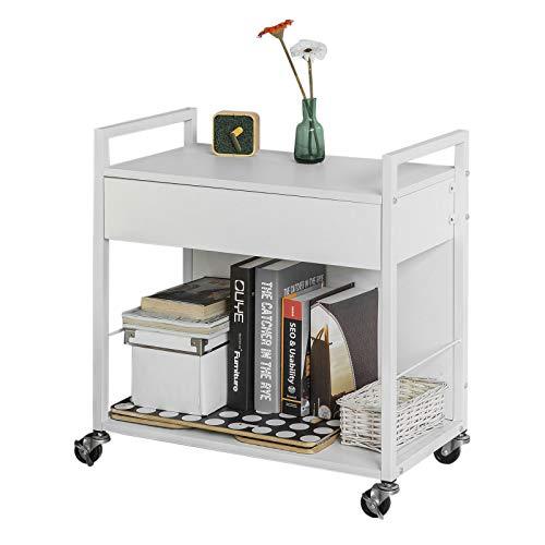 SoBuy Rebaja-15 Carrito de Cocina, estantería de Cocina, Carrito movil,Blanco,H64 cm,FKW50-W, ES