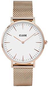 Cluse Reloj Analógico Automático para Mujer con Correa de Acero Inoxidable – CL18112 de Cluse