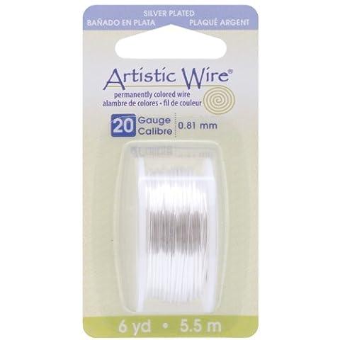 Beadalon Artistic wire-silver–Calibre 20, 6yd, d'autres, multicolore