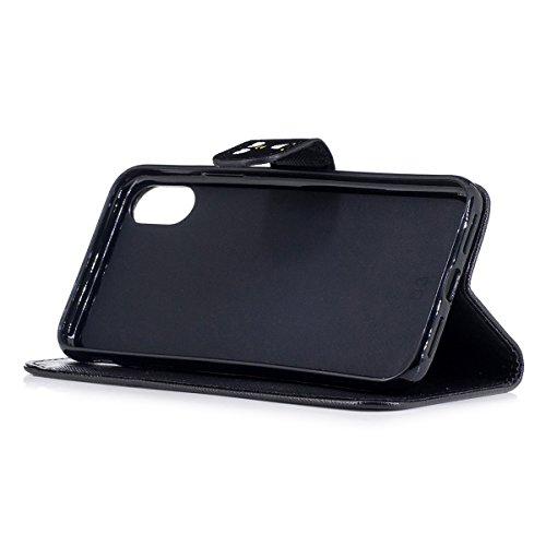inShang Hülle für iPhone X 5.8 inch mit integriertem Brieftaschen-Design, iPhoneX 5.8inch cover case mit Standfunktion. Don't touch me