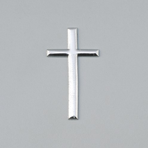 EFCO Cross Wachsdekoration Silber Brillant, 22 x 40 mm
