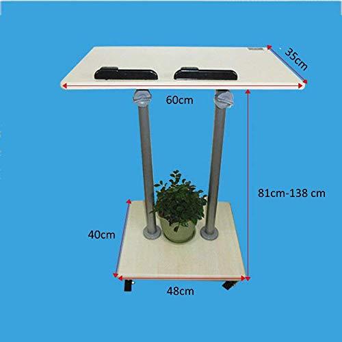 SED Multifunción Mesa pequeña Hogar Soporte de Altura Ajustable Estable Estable Podium Atril para computadora portátil Soporte excelente Uso para Salones de Clase Oficinas y Dormitorio en casa Mesa d