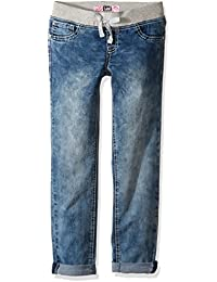 Lee Girls' Big Girls' Knit Waistband Pull on Skinny Jean