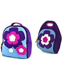Dabbawalla Bags Flower Power Girls Preschool Toddler Backpack And Lunch Bag Set