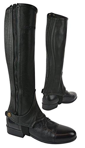 ERIC THOMAS Leder Mini-Chaps, schwarz, Erwachsene, XL: Weite= 37,0-42,0 Höhe= 42,0
