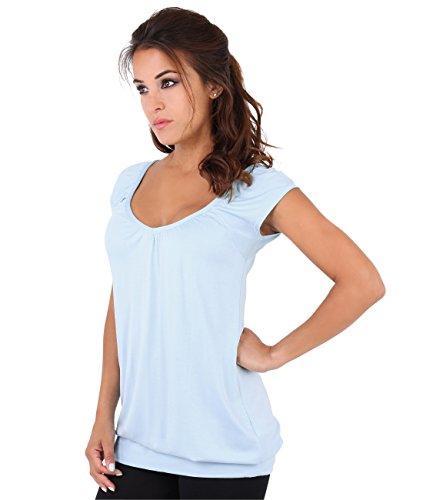 KRISP® Women Basic Jersey Tshirt Stretch Casual Tops Test