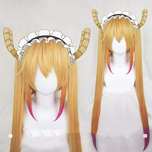 Perücken-Anime Harajuku Stil 90Cm Langes Gerades Haar Und Ein Tiger Clip WIG 100% Hitzebeständige Faser Synthetisch Einschließlich WIG Care 4 Stück Set Halloween Party Kostüm