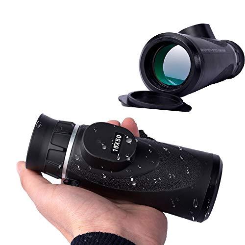NAN® 10X50 wasserdichte Monokulare Hochauflösende Monokulare Brille Low Light Nachtsicht wasserdichte Vogelbeobachtungsbrille, Reisen, Camping, Outdoor, Bergsteigen -