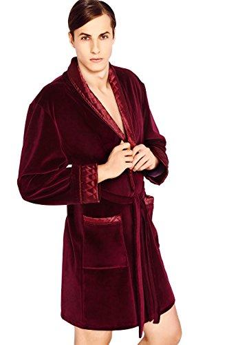 hommes-luxe-doux-courtes-en-coton-peignoir-a-capuche-avec-ceinture