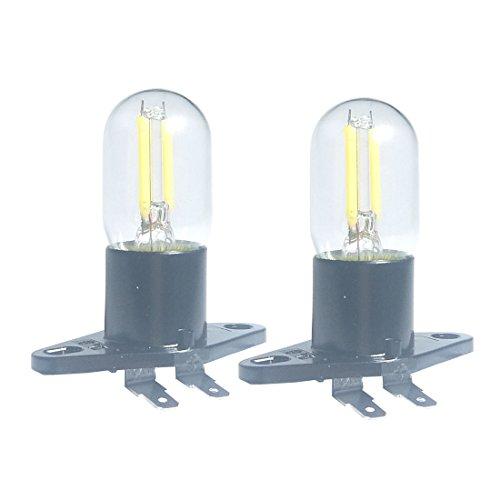 Qlee Led Filament clair 1.5 W Z187 micro-onde ampoule 240 V 20 W équivalent Lampes à incandescence pour Galanz réfrigérateur four à micro-ondes électriques Gamme Capuche Témoin lumineux, 2 PACK