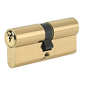 Yale B-ED4050-PB Euro Double Cylinder, 3 Keys Supplied, Standard Security, Boxed, Suitable for All Door Types, Brass Finish, 40:10:50 (100 mm)