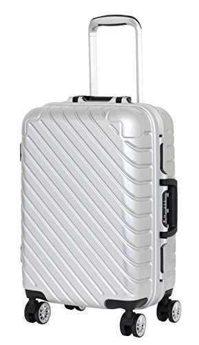 Valise Taille Cabine 55 cm Alistair Infinity - Abs Ultra Légère - 4 Roues - Argent
