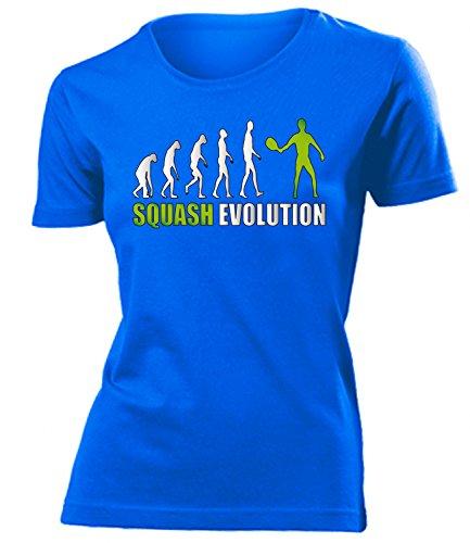 Sport - SQUASH EVOLUTION - Cooles Fun Donna Maglietta Taglia S to XXL vari colori Blu / verde