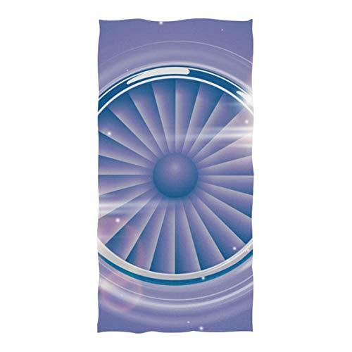 EIJODNL Mikrofaser Strandtuch passagierflugzeug Turbine warten auf große stranddecke Handtuch leichte Handtuch für Reise Pool Schwimmbad Camping Yoga Gym Sport Frauen übergroße 37 x 74 Zoll